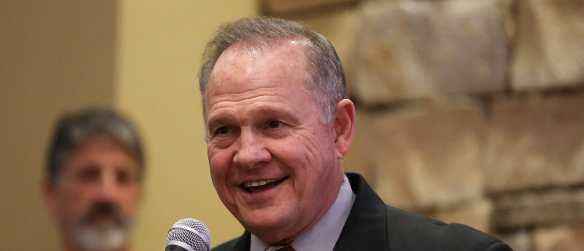 Judge Roy Moore speaks as he participates in the Mid-Alabama Republican Club's Veterans Day Program in Vestavia Hills, Alabama, U.S. November 11, 2017. (Photo: REUTERS/Marvin Gentry)