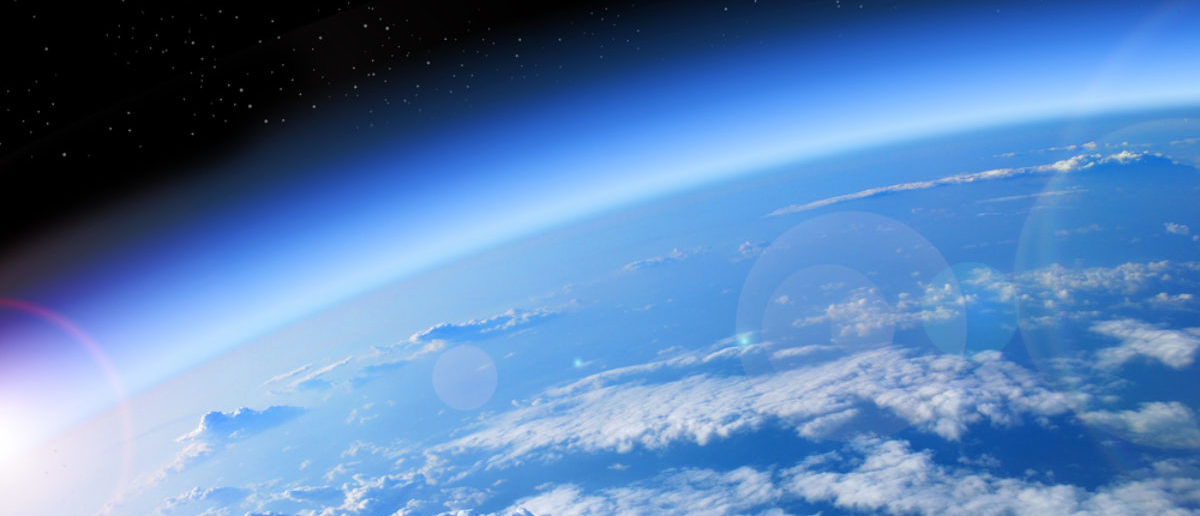 View of the Earth from space, blue planet and deep black space. (studio23/Shutterstock)