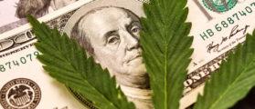shutterstock_Money Marijuana. Hundred dollar bill of the USA Franklin. By Pro_Stock