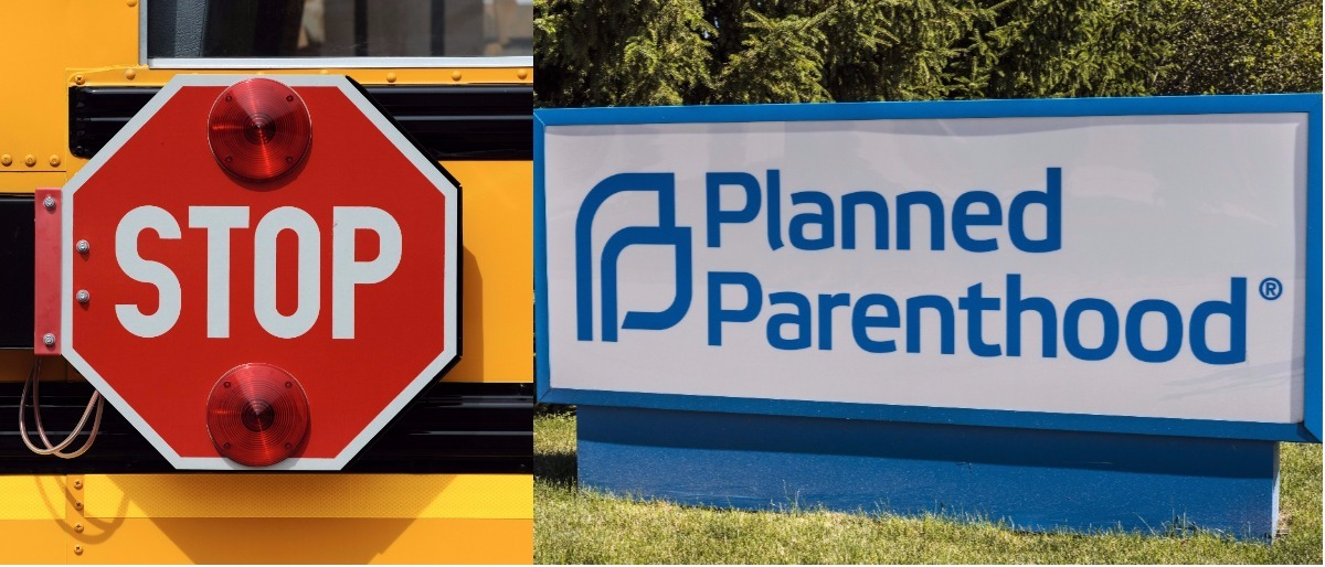 Here is a photo of a Planned Parenthood sign. (Shutterstock/Nagel Photography, Shutterstock/Jonathan Weiss)