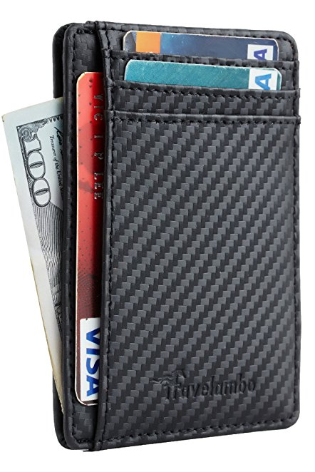 Normally $22, this minimalist RFID blocking wallet is 38 percent off today (Photo via Amazon)