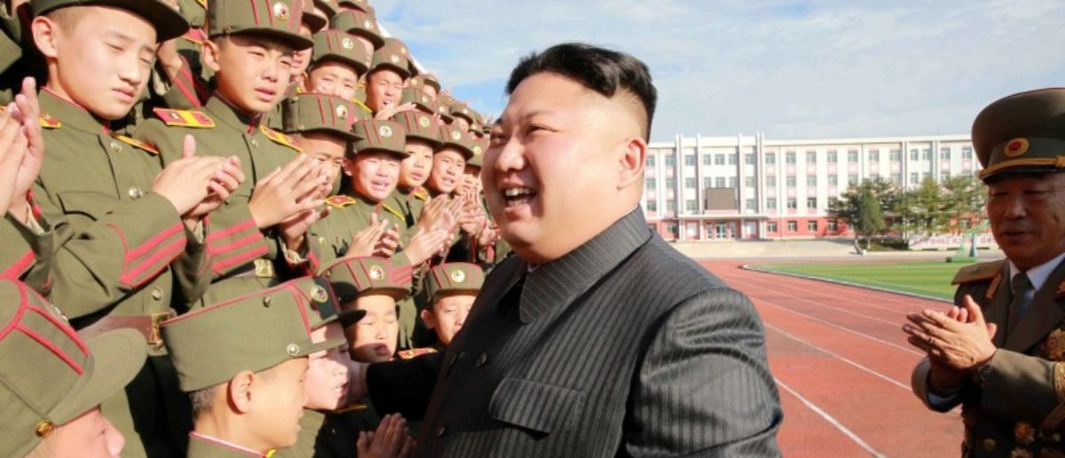 FILE PHOTO: North Korea's leader Kim Jong Un visits the Mangyongdae Revolutionary Academy on its 70th anniversary, in this undated photo released by North Korea's Korean Central News Agency (KCNA) in Pyongyang October 13, 2017. KCNA/File Photo via REUTERS.