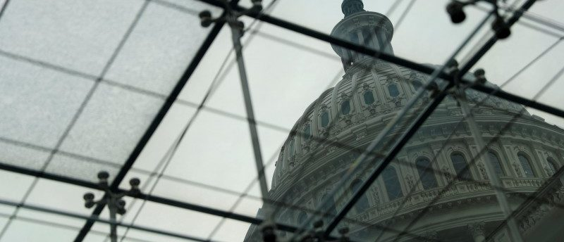 FILE PHOTO: The U.S. Congress Capitol Building is seen from the Congressional Visitors Center in Washington, U.S. December 6, 2017. REUTERS/Aaron P. Bernstein/File Photo