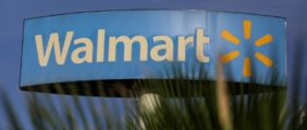 FILE PHOTO: A Walmart sign is pictured at one of their stores in Monterrey, Mexico, April 26, 2017. REUTERS/Daniel Becerril/File Photo