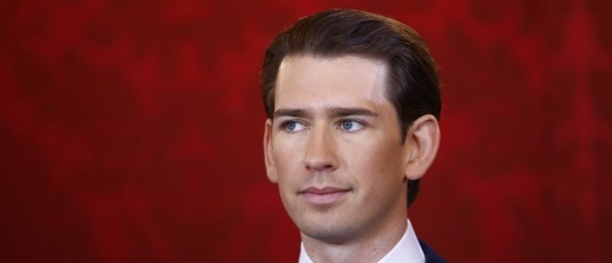 Head of the People's Party Sebastian Kurz reacts during the swearing-in ceremony of the new government in Vienna, December 18, 2017 REUTERS/Leonhard Foeger