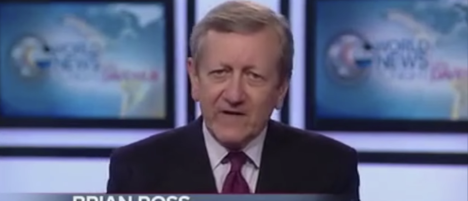 Here is a photo of ABC News anchor Brian Ross .(Photo: Screenshot/ABC News)
