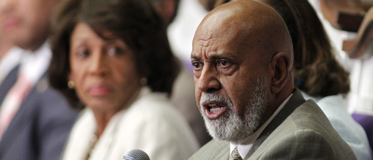 U.S. Rep. Alcee Hastings (R) of Florida speaks at a U.S. Congressional Black Caucus 'Town Meeting' at Mt. Hermon AME church in Miami Gardens, Florida August 22, 2011, as U.S. Rep. Maxine Waters of California watches. The group is sponsoring a jobs fair in downtown Miami on Monday and they say the fair will include more than 100 employers from around the country. REUTERS/Joe Skipper