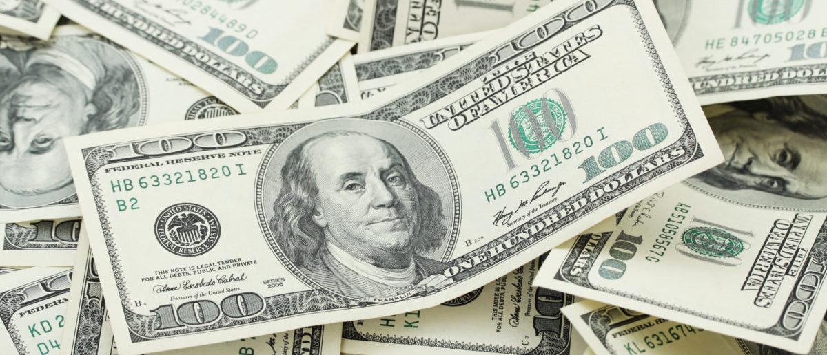Backround with money american hundred dollar bills
