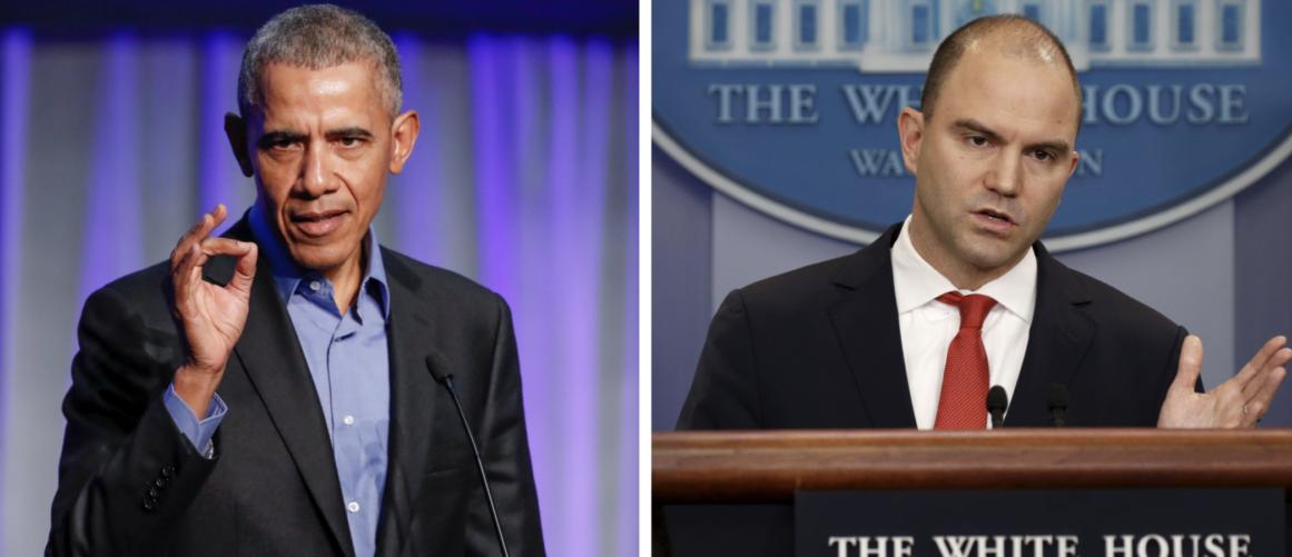 L: Former President Barack Obama (REUTERS/Kamil Krzaczynski) R: Former deputy national security adviser Ben Rhodes (REUTERS/Kevin Lamarque)