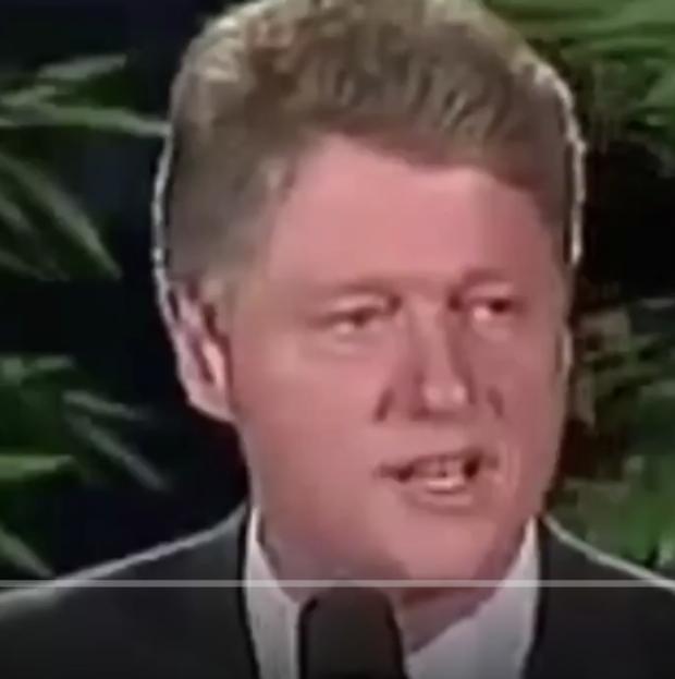 Bill Clinton on Israel's capital (Photo: Screenshot/Twitter)