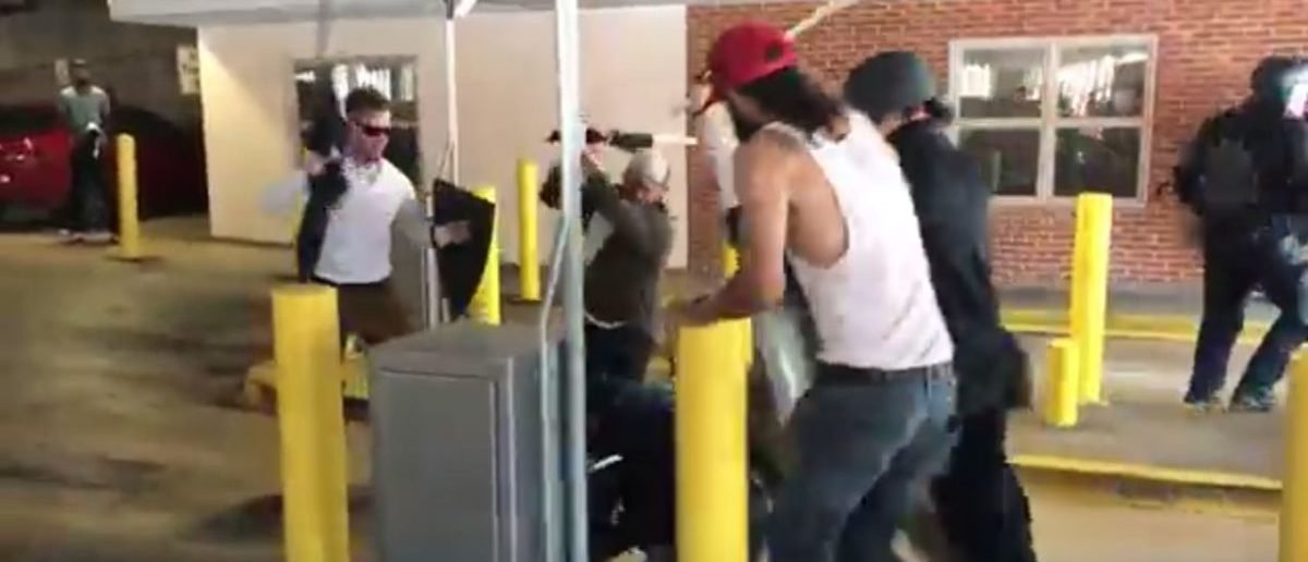 The parking garage brawl (Brenton Roy/TheDCNF)
