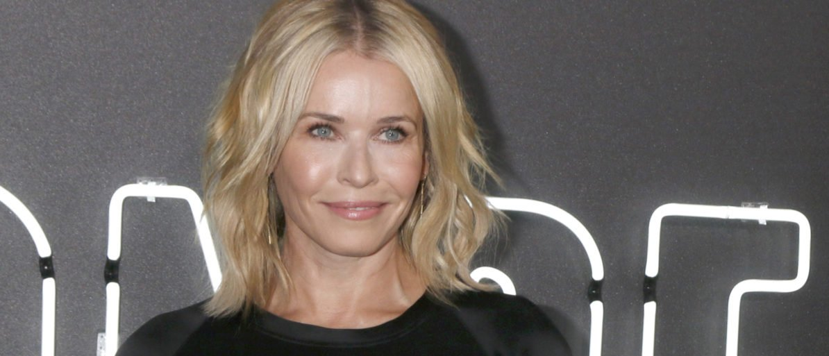 """LOS ANGELES - JUL 24: Chelsea Handler at the """"Atomic Blonde"""" Los Angeles Premiere at The Theatre at Ace Hotel on July 24, 2017 in Los Angeles, Calif. (Photo: Shutterstock/ Kathy Hutchins)"""