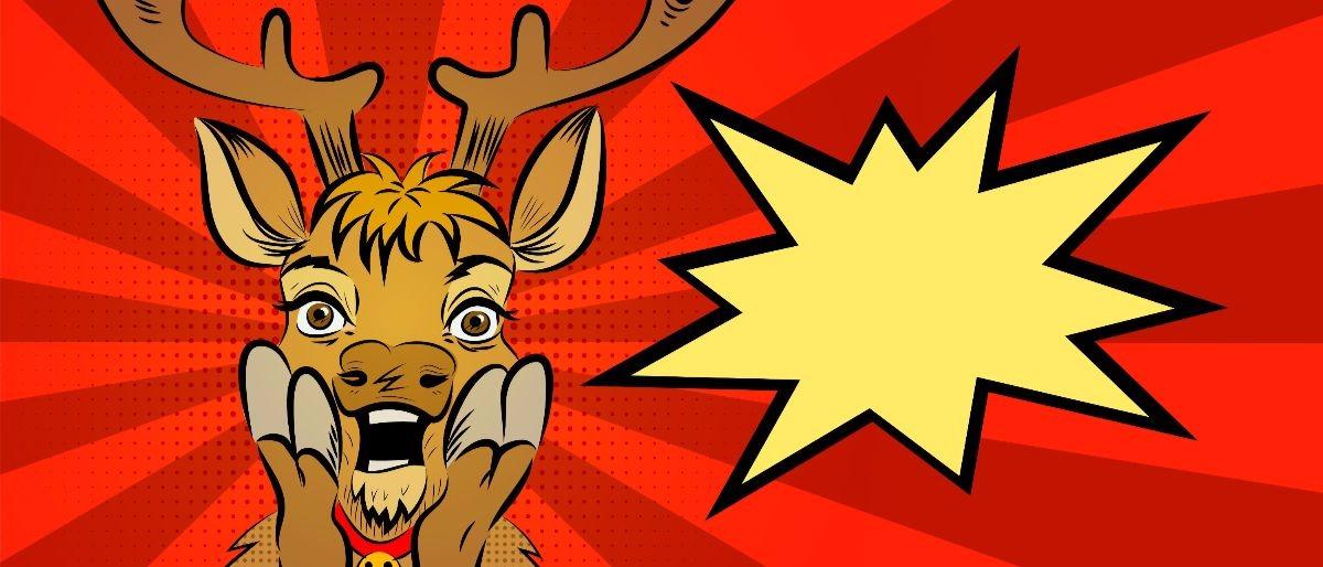 Christmas reindeer pop Shutterstock/Sunny_nsk