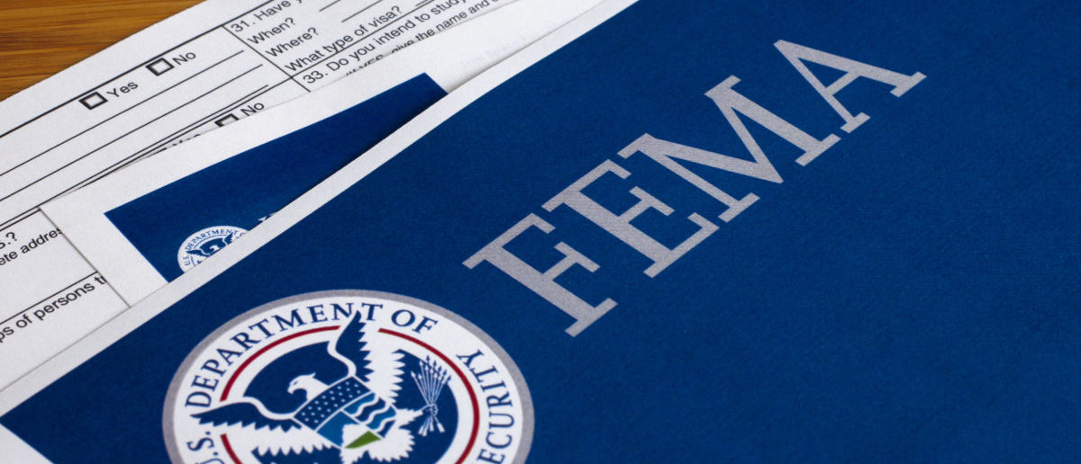FEMA US Homeland Security Citizen and Immigration Services Flyer Closeup (Shutterstock)