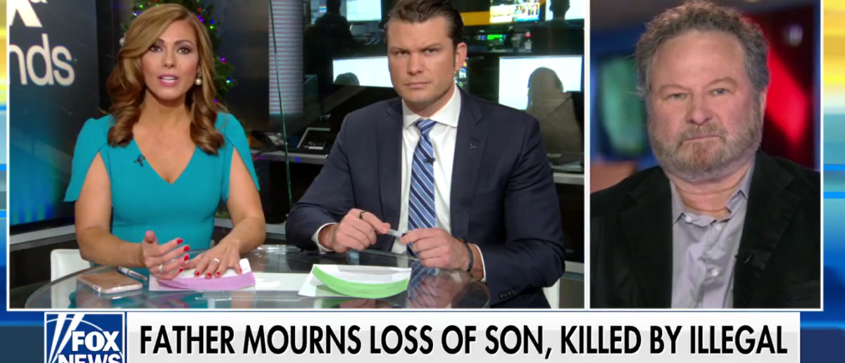 Father of man killed by illegal immigrant speaks out against santuary cities on Fox and Friends 12-27-17 (Screenshot/Fox News)
