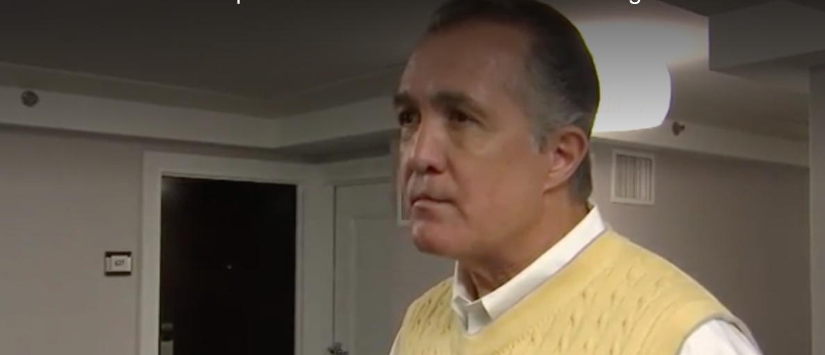 Fox 9 screenshot/Fox 9 confronts Rep. Franks before his immediate resignation