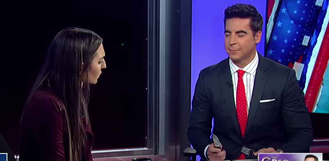 Fox News Screenshot/Watters Eats Steak While Debating Meat-Eaters' 'Toxic Masculinity'