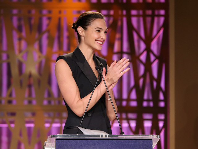 LOS ANGELES, CA - DECEMBER 06: Gal Gadot speaks onstage at The Hollywood Reporter's 2017 Women In Entertainment Breakfast at Milk Studios on December 6, 2017 in Los Angeles, California. (Photo by Jesse Grant/Getty Images)