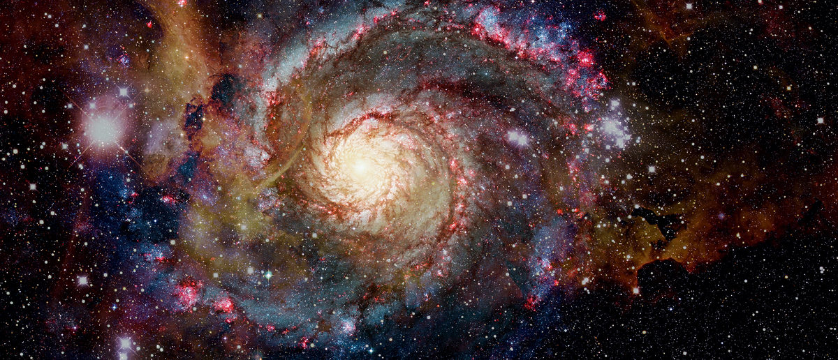 Galaxy and nebula. Elements of this Image Furnished by NASA (Shutterstock/NASA Images)