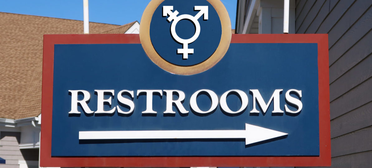 Here is a photo of a gender neutral bathroom sign. (Photo: Shutterstock/John Arehart)