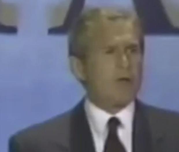 George W. Bush on Israel's capital (Photo: Screenshot/Twitter)