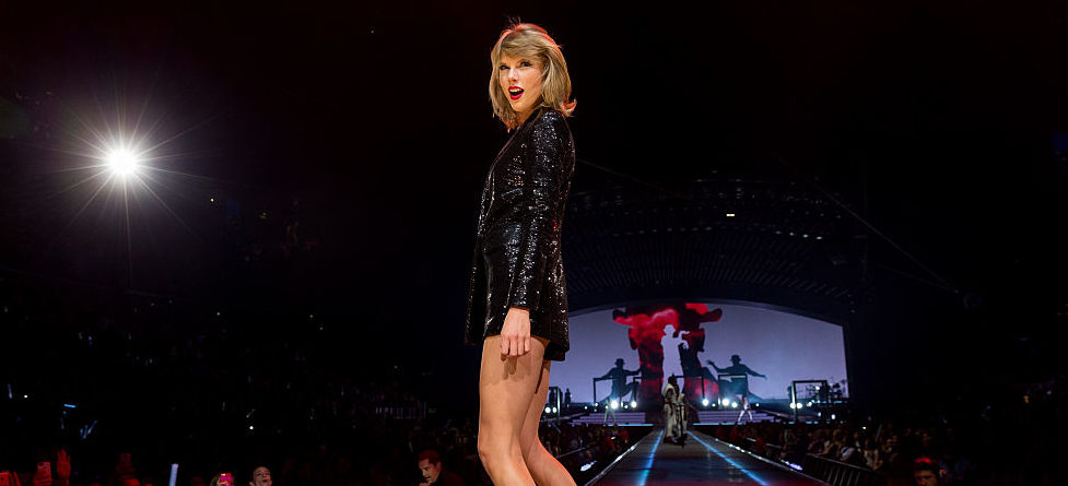 Taylor performing onstage during The 1989 World Tour in August 2015 in Los Angeles. (Photo by Christopher Polk/Getty Images for TAS)