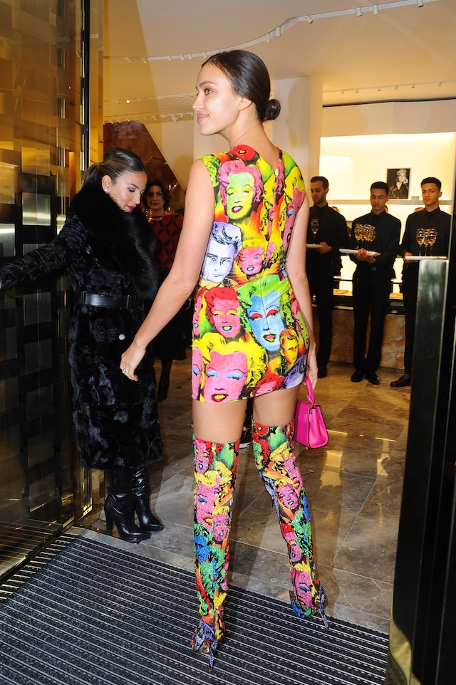 Celebrities Attend The Versace Opening Party In London <P> Pictured: Irina Shayk <B>Ref: SPL1633429 051217 </B><BR /> Picture by: Flynet - Splash News<