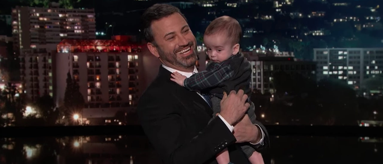 Jimmy Kimmel and son (Photo: Screenshot/Jimmy Kimmel Live)