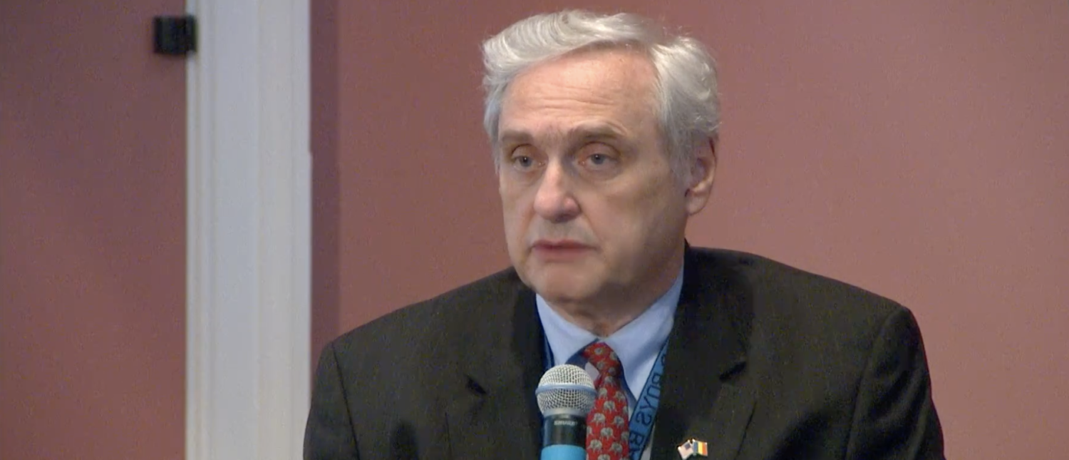Judge Alex Kozinski delivers a lecture on criminal justice reform in 2016. (YouTube screenshot/NC Channel)