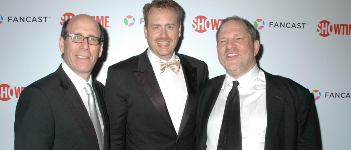 Matthew C. Blank with Robert Greenblatt and Harvey Weinstein at the Showtime Golden Globe Awards After Party. The Peninsula Hotel, Beverly Hills, CA. 01-11-09 Shutterstock/ s_buckley