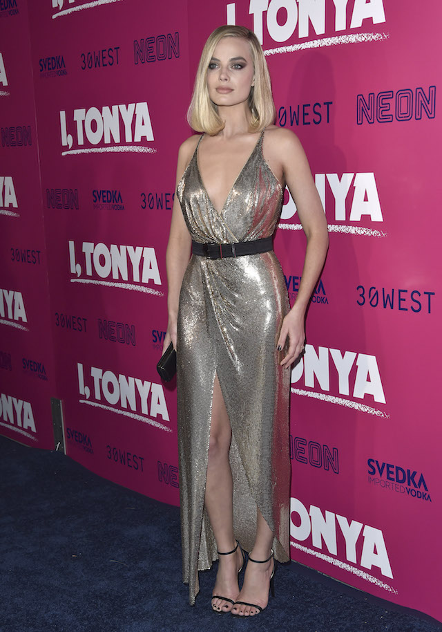 Celebrities arrive at the premiere of 'I, Tonya' held at The Egyptian Theatre in Hollywood, California, USA. <P> Pictured: Margot Robbie <B>Ref: SPL1633583 061217 </B><BR /> Picture by: JOCE / Bauergriffin.com / Bauer