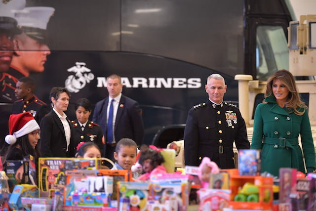 Toys For Tots Charity Event : Photos of melania trump at charity event the daily caller