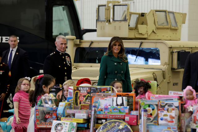 2017 Toys For Tots Ellensburg Washington : Photos of melania trump at charity event the daily caller