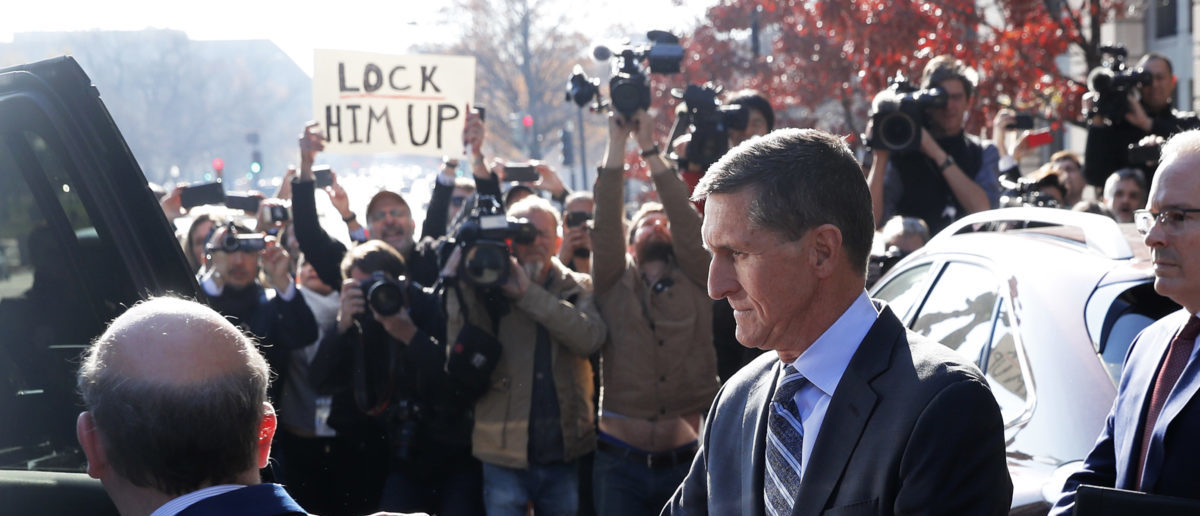 Former National Security Adviser Michael Flynn pleaded guilty to lying to the FBI about his contacts with Russia's ambassador, December 1, 2017. REUTERS/Jonathan Ernst