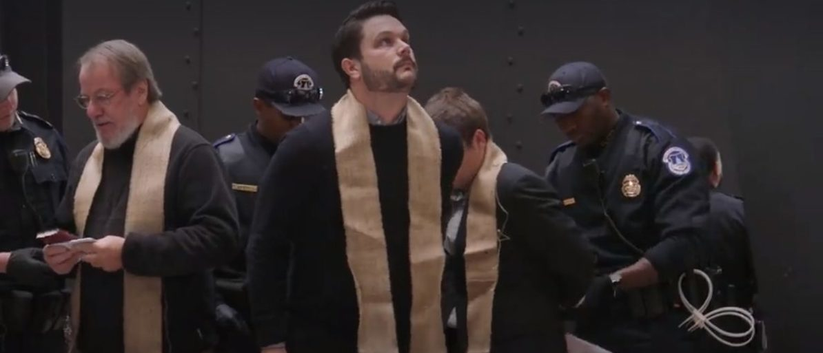 Ministers Arrested In Hart Senate Building (Facebook video/Sojourners)