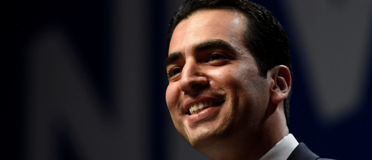 Ruben Kihuen, candidate for United States Representative, NV 4th District speaks at the Nevada state democratic election night event in Las Vegas, Nevada, U.S. November 8, 2016.  REUTERS/David Becker