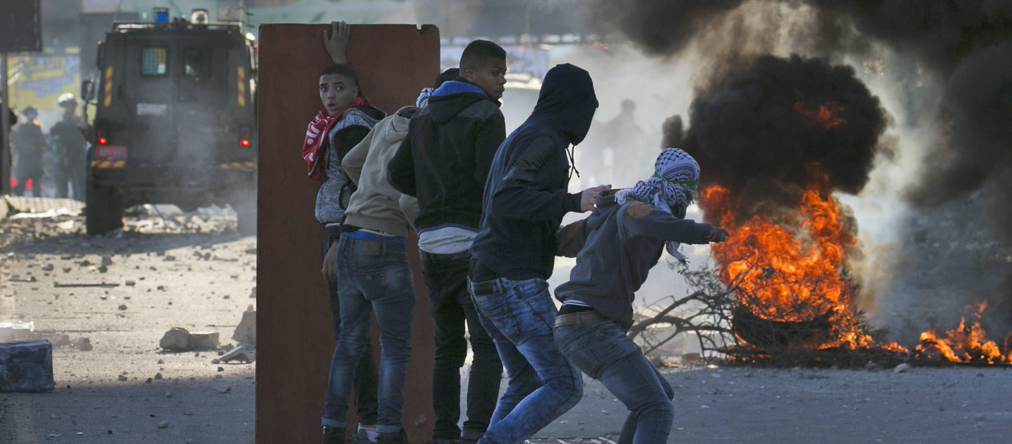 """Palestinians clashed with Israeli security forces after calls for a """"day of rage"""" as US President Donald Trump's declaration of Jerusalem as Israel's capital sent shockwaves through the region for a second day. Getty Images / AFP PHOTO / JAAFAR ASHTIYEH"""