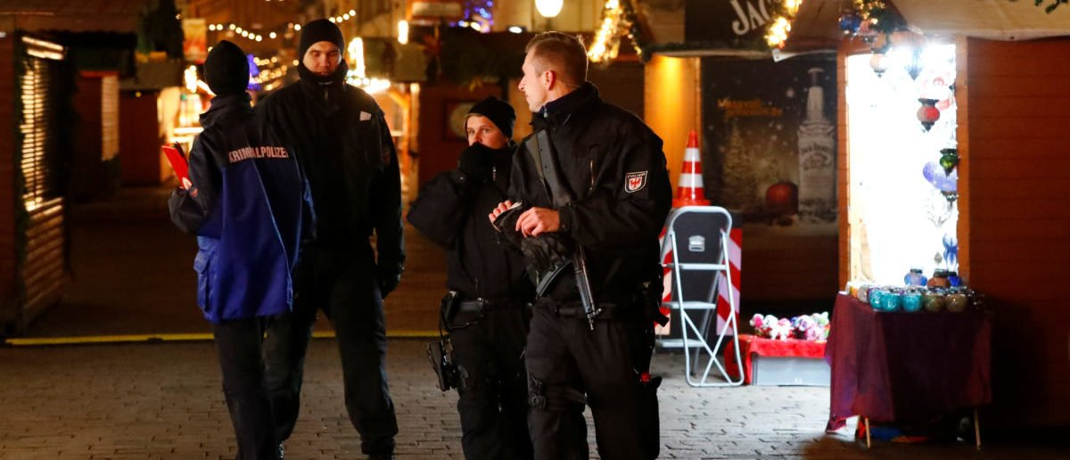 Police have evacuated a Christmas market and the surrounding area in the German city of Potsdam, near Berlin, Germany, December 1, 2017, to investigate a suspicious object.    (Photo: Reuters/Fabrizio Bensch)