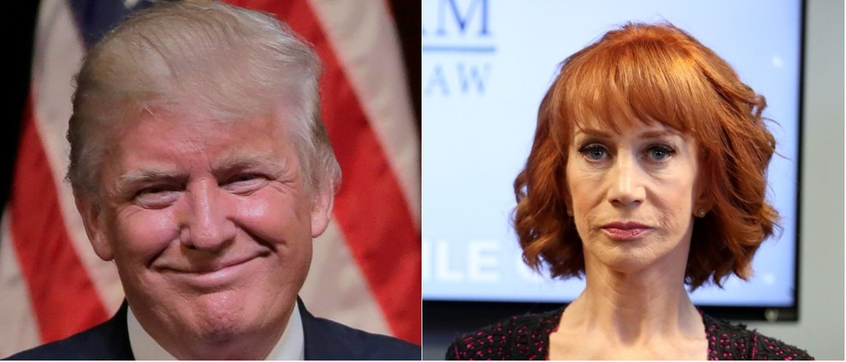 Reuters Joshua Roberts Getty Images Frederick M Brown - No Kathy Griffin Trump Is Not Actual Nazi