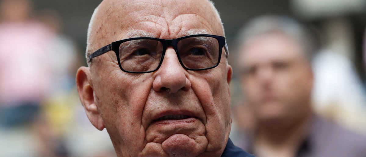 September 10, 2017 - Rupert Murdoch, Chairman of Fox News Channel stands before Rafael Nadal of Spain plays against Kevin Anderson of South Africa. (Photo: REUTERS/Mike Segar)