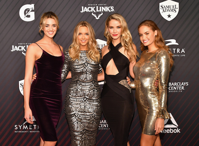 (L-R) Allie Ayers, Camille Kostek, Olivia Jordan and Haley Kalil attend SPORTS ILLUSTRATED 2017 Sportsperson of the Year Show on December 5, 2017 at Barclays Center in New York City. (Photo by Slaven Vlasic/Getty Images for Sports Illustrated)