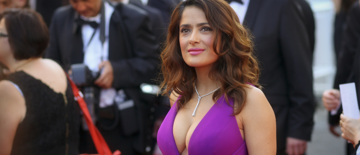 Actress Salma Hayek attends the 'Carol' Premiere during the 68th annual Cannes Film Festival on May 17, 2015 in Cannes, France. Shutterstock/ Denis Makarenko