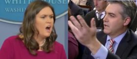 Sarah Sanders Gets Into It With CNN Over Fake News Question: 'I'm Not Finished!'
