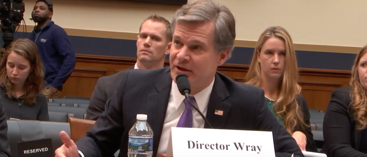 FBI Director Christopher Wray testifies before the House Judiciary Committee, Dec. 7, 2017. (Youtube screen grab)