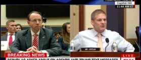 Jim Jordan Grills Rosenstein Over Dossier, Agent Strzok [VIDEO]