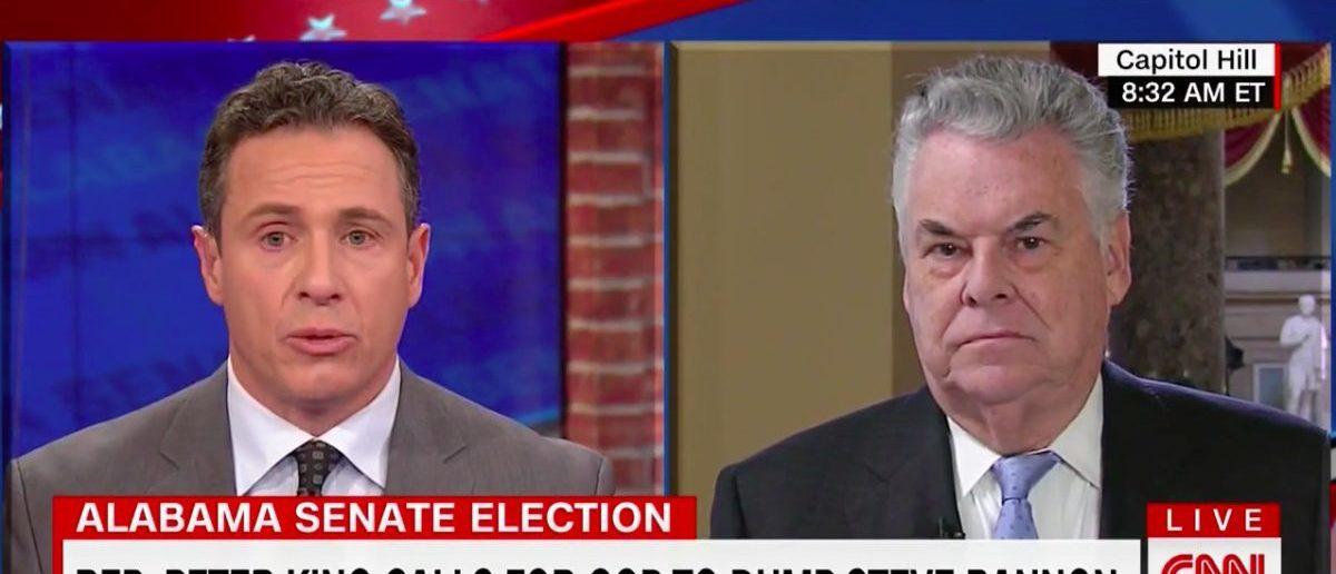 Screen Shot Peter King (CNN: Dec 13, 2017)