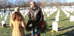 While Most Of D.C. Slept, Sec. Zinke Wandered A Frozen Arlington Cemetery With A Christmas Wreath