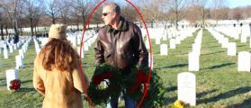 While Most Of DC Slept, Sec. Zinke Wandered A Frozen Arlington Cemetery With A Christmas Wreath