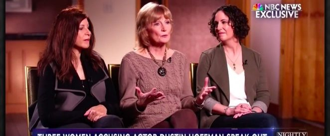 Dustin Hoffman accusers (photo: NBC Nightly News)