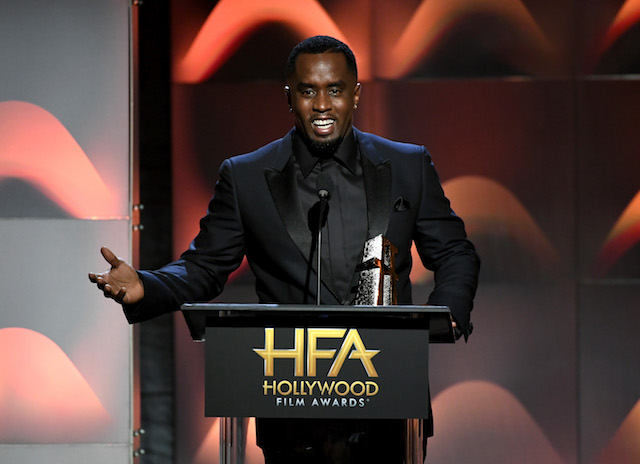 BEVERLY HILLS, CA - NOVEMBER 05: Honoree Sean Combs accepts the Hollywood Documentary Award for 'Can't Stop, Won't Stop: A Bad Boy Story' onstage during the 21st Annual Hollywood Film Awards at The Beverly Hilton Hotel on November 5, 2017 in Beverly Hills, California. (Photo by Kevin Winter/Getty Images)